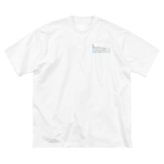 静かな場所 Big silhouette T-shirts
