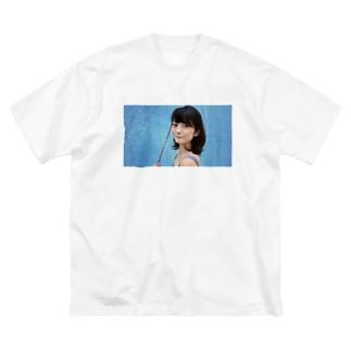 Light blue  Big silhouette T-shirts