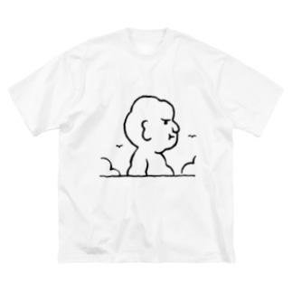 入道さんあらわる Big silhouette T-shirts