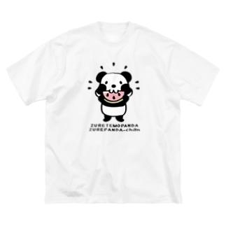 CT40ズレてもぱんだズレぱんだちゃんnew Big silhouette T-shirts