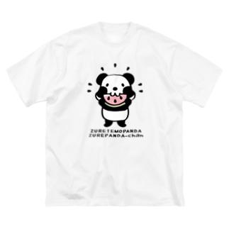 ズレてもぱんだズレぱんだちゃんnew Big silhouette T-shirts