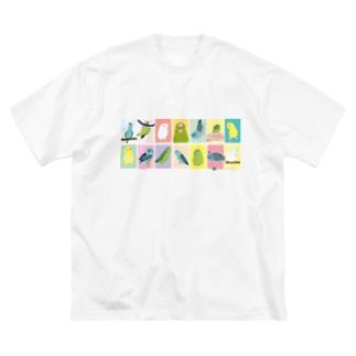 表情色々マメルリハ Big silhouette T-shirts