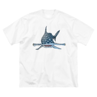 FIELD EDGE.のシュモクザメ Big silhouette T-shirts