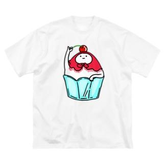 かき氷さん Big silhouette T-shirts