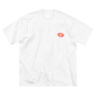 なにそのキスマーク!! Big silhouette T-shirts
