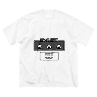 ▲ONIGIRI▽ (文字色:ブラック) Big silhouette T-shirts