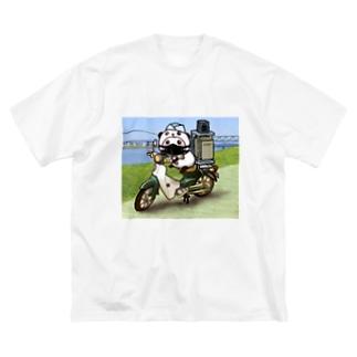 パンダinパンダ(出前) Big silhouette T-shirts