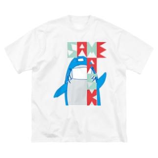 MASK_SAME Big silhouette T-shirts