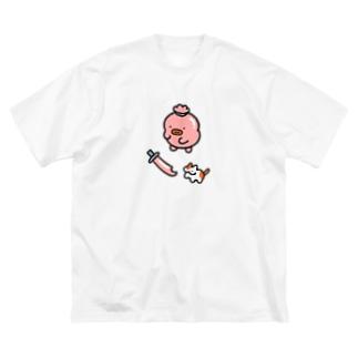 ぎょにくざむらい Big silhouette T-shirts
