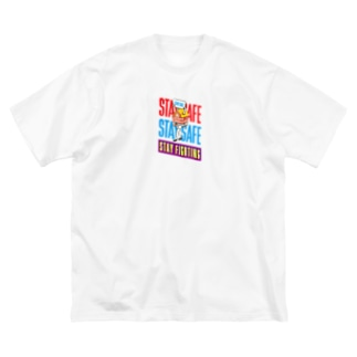 STAY FIGHTING 2 Big silhouette T-shirts