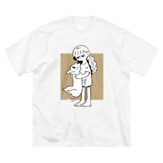 ---✄𝙼𝚁𝚊𝙼𝚁𝚊✄---ののびるねこ Big silhouette T-shirts