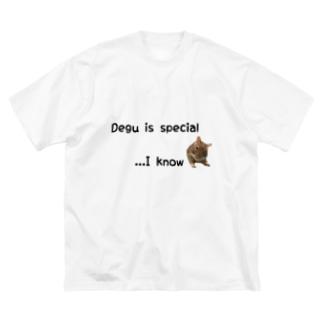 デグーは最高 Big silhouette T-shirts