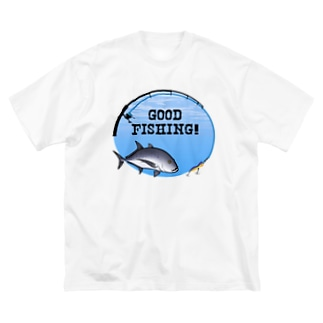 ロウニンアジ_1_C Big silhouette T-shirts
