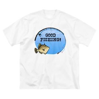 カワハギ_1_C Big silhouette T-shirts