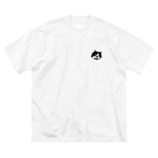 猫氏 Big silhouette T-shirts