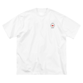 しろねこちびちゃん Big silhouette T-shirts