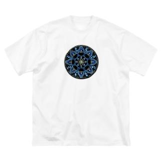 薄氷−丸ver. Big silhouette T-shirts