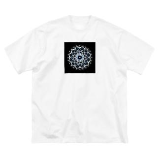カレイドスコープ−点描曼荼羅 Big silhouette T-shirts