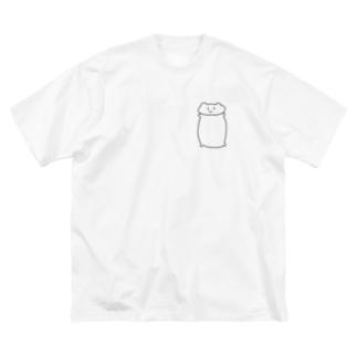 しらくま Big silhouette T-shirts