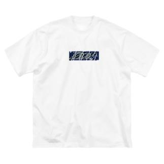 真夜中が今 box logo Big silhouette T-shirts