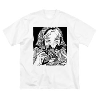 𝗬𝗨𝗞𝗔 𝗡𝗜𝗦𝗛𝗜𝗜𝗭𝗨𝗠𝗜の君と花 Big silhouette T-shirts