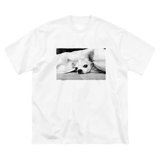 モノクロチワワ(アンニュイ1) Big silhouette T-shirts