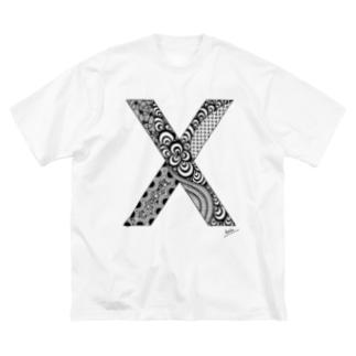 ゴシックのX(Big Tシャツ) Big silhouette T-shirts