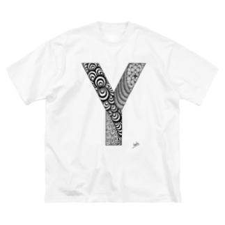 ゴシックのY(Big Tシャツ) Big silhouette T-shirts