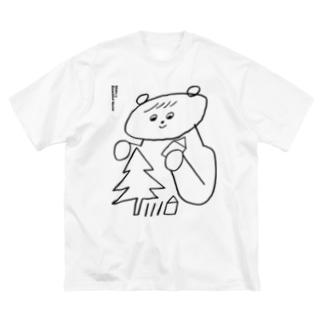 うつくしいせかい Big silhouette T-shirts
