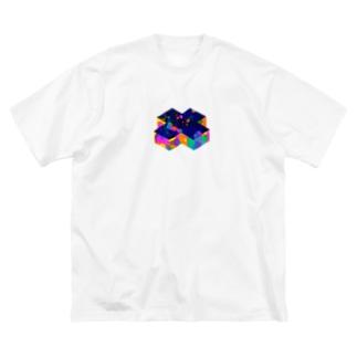 バッテン Big silhouette T-shirts