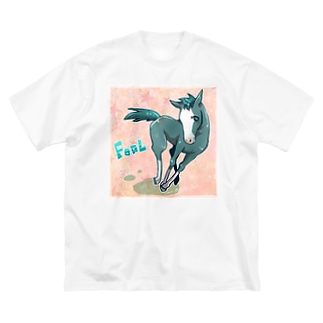こうま Big silhouette T-shirts