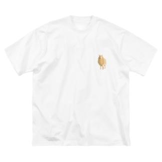 tiny design | ちょっとしたデザインのちいさなひつじ ワンポイント Big silhouette T-shirts