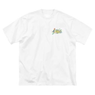 THE SKA JUNCTIONSのGOOD LUCK!パロット Big silhouette T-shirts