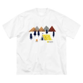 キャンプ Big silhouette T-shirts