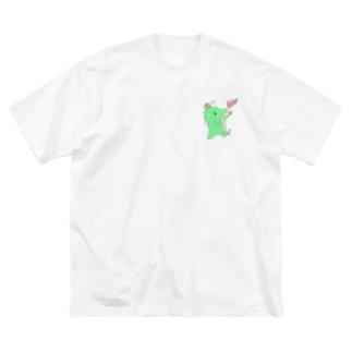 恐竜のきぃくん Big silhouette T-shirts