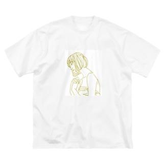 恋する乙女。 Big silhouette T-shirts