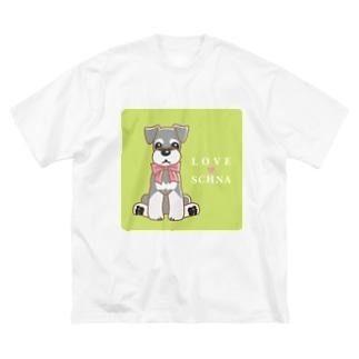 LOVESCHNA-らぶしゅな- Big silhouette T-shirts