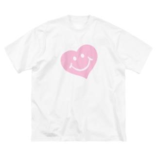 スマイルハート♡ Big silhouette T-shirts