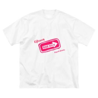 オヤスミナサイ ぴんくばーじょん Big silhouette T-shirts