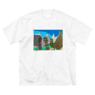 カナディアン・ロッキーの青空とけしき(カナダ) takao mizuno Big silhouette T-shirts