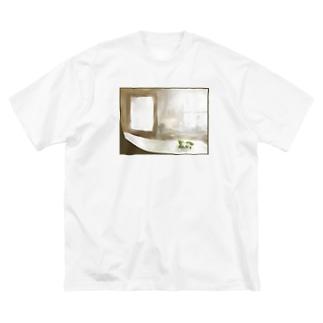檸檬の花の絵 Big silhouette T-shirts