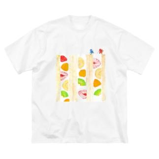 フルーツサンド登山Tシャツ Big silhouette T-shirts