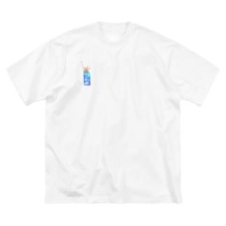 じゅりあんぐ!の控えめワンポイントなクリームソーダちゃん Big silhouette T-shirts