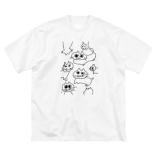 nekoneko! Big silhouette T-shirts
