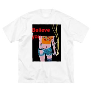 Believe you Big silhouette T-shirts