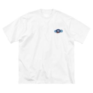 顔だけ半鰻人 Big silhouette T-shirts