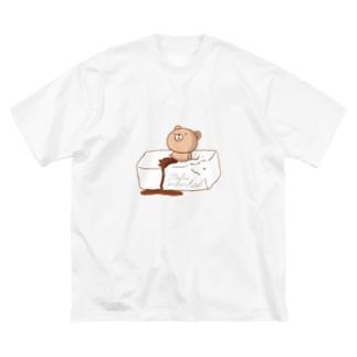 Tofu mentalくまさん(Tシャツ) Big silhouette T-shirts