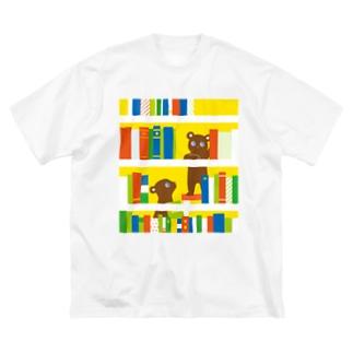 本棚くまさん Big T-shirts
