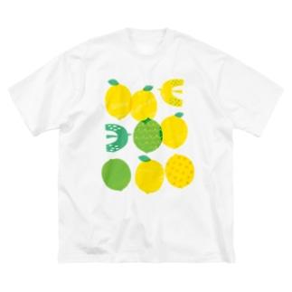 レモンと鳥 Big T-shirts