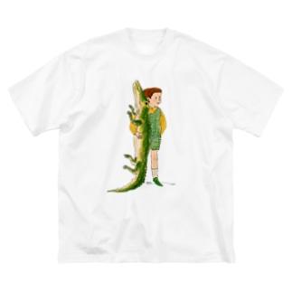 ワニと僕 Big silhouette T-shirts
